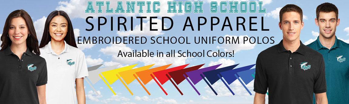 Shop for Atlantic High School Uniforms & Polos with optional Sharks Logo