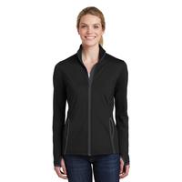 Sport-Tek Ladies Sport-Wick Stretch Contrast Full-Zip Jacket