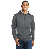 Sport-Tek Sport-Wick CamoHex Fleece Colorblock Hooded Pullov