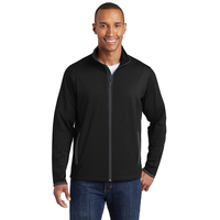 Sport-Tek Sport-Wick Stretch Contrast Full-Zip Jacket  ST85