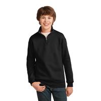 JERZEES Youth NuBlend; 1/4-Zip Cadet Collar Sweatshirt 995Y