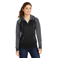 Sport-Tek Ladies Sport-Wick Varsity Fleece Full-Zip Hooded J