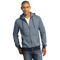 District Made - Mens Mini Stripe Full-Zip Hoodie DM390