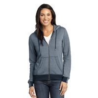 District Made - Ladies Mini Stripe Full-Zip Hoodie DM490