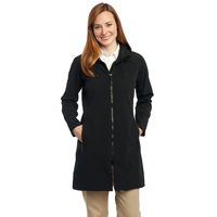 Port Authority Ladies Long Textured Hooded Soft Shell Jacket