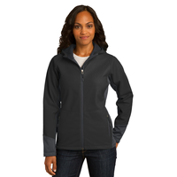 Port Authority Ladies Vertical Hooded Soft Shell Jacket L31