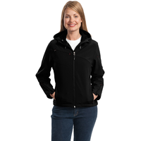 Port Authority Ladies Textured Hooded Soft Shell Jacket L70