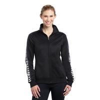Sport-Tek Ladies Dot Sublimation Tricot Track Jacket LST93