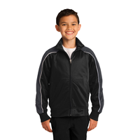 Sport-Tek Youth Piped Tricot Track Jacket YST92