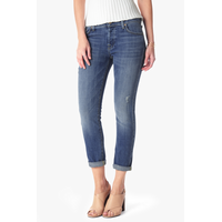 7 For All Mankind Women's Josefina Boyfriend Jean in Bright Light Broken Twill