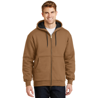 CornerStone - Heavyweight Full-Zip Hooded Sweatshirt with Th