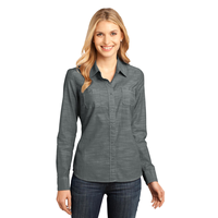 District Made - Ladies Long Sleeve Washed Woven Shirt DM480