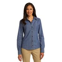 Port Authority Ladies Patch Pockets Denim Shirt L652