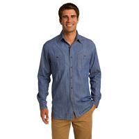 Port Authority Patch Pockets Denim Shirt S652
