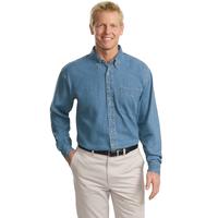 Port Authority Tall Long Sleeve Denim Shirt TLS600