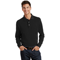 Port Authority Long Sleeve Heavyweight Cotton Pique Polo K3
