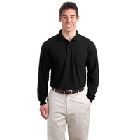 Port Authority Long Sleeve Silk Touch Polo with Pocket  K50
