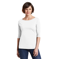 District Made Ladies Perfect Weight 3/4-Sleeve Tee DM107L