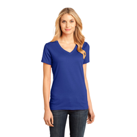 District Made - Ladies Perfect Weight V-Neck Tee DM1170L