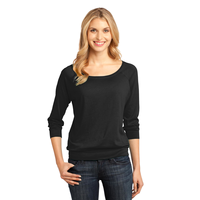 District Made - Ladies Modal Blend 3/4-Sleeve Raglan DM482