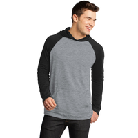 District - Young Mens 50/50 Raglan Hoodie DT128