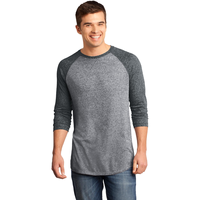 District - Young Mens Microburn 3/4-Sleeve Raglan Tee DT162