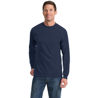 Port & Company - Long Sleeve Essential Pocket Tee  PC61LSP