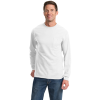 Port & Company Tall Long Sleeve Essential Pocket Tee PC61LS