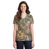 Russell Outdoors Realtree Ladies 100% Cotton V-Neck T-Shirt