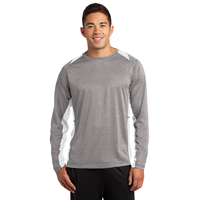 Sport-Tek Long Sleeve Heather Colorblock Contender Tee ST36