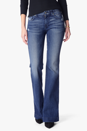 7 For All Mankind Women's Dojo Original Trouser Jean in Lake Blue